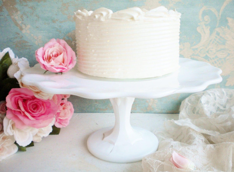 Vintage Indiana Milk Glass Cake Stand Wedding Cake by MyVingtique