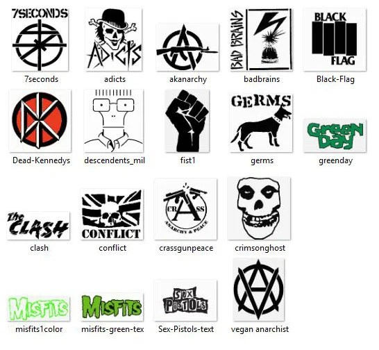 Punk Rock band machine Embroidery patterns applique preset for
