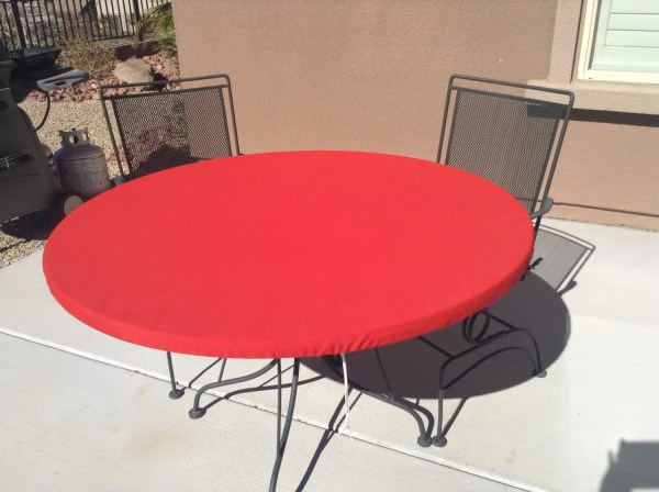 Outdoor Fitted Tablecloth. Soil And Stain Resistant