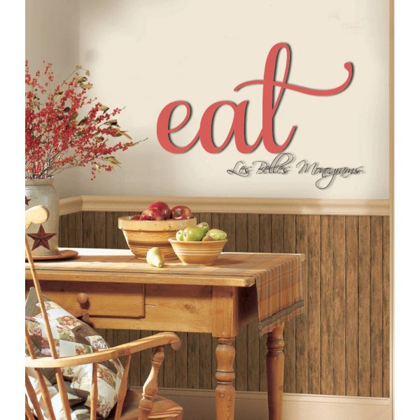 Wooden Eat Sign Kitchen Wall Decor Wood