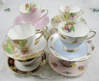 60 Vintage Tea Cups and Saucers for Your Wedding or by ...