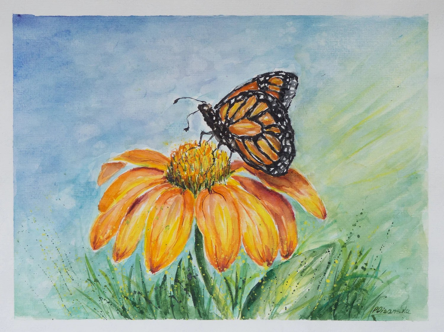 Butterfly And Flower Butterfly Watercolor Painting Butterfly