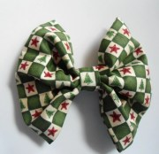 christmas tree hair bow red