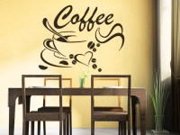 Coffee Beans Wall Decals Coffee Cup Decal Cafe Drinks Kitchen
