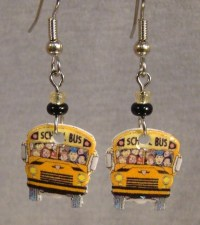 School Bus Dangle Earrings Bus Driver Jewelry