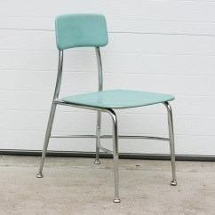 Aqua Desk Chair High Back Wooden Chairs Vintage School Children 39s