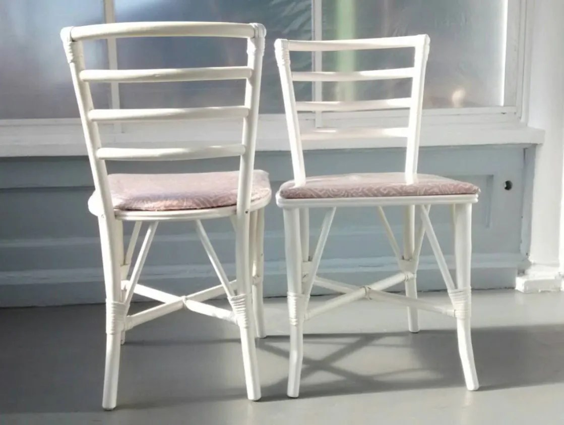 White Ladder Back Chair Vintage Chairs Kitchen Dining Ladder Back Bent Wood