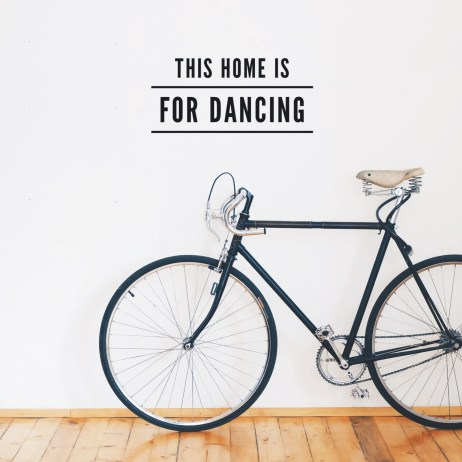 This home is for Dancing Wall Decal Quote / Dance Wall vinyl sticker / Dancer quote / Bedroom Livingroom Home decor / Wall sentence
