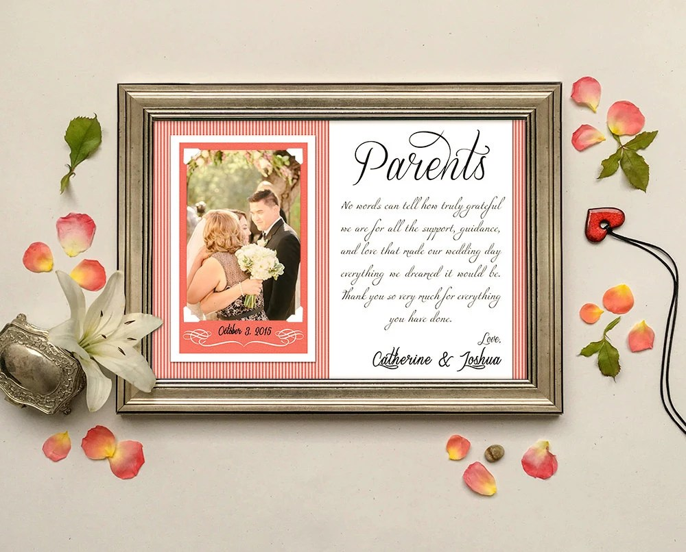 Parents Wedding Gift-Parents Thank You Gift Wedding Gift For