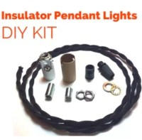 DIY Glass Insulator Pendant Light Kit DIY Insulator Lighting