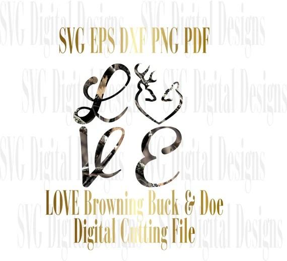 Download Svg Deer Buck and Doe Love Cut File svg Digital Designs