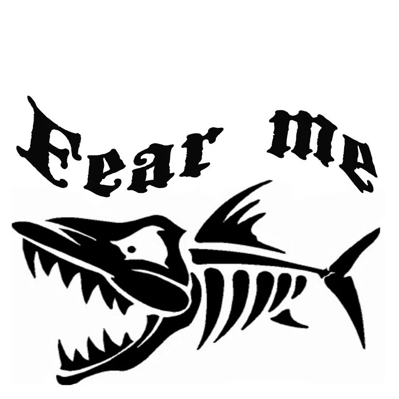 Fear me bone fish vinyl decal custom made 9 by Bigteesprinting