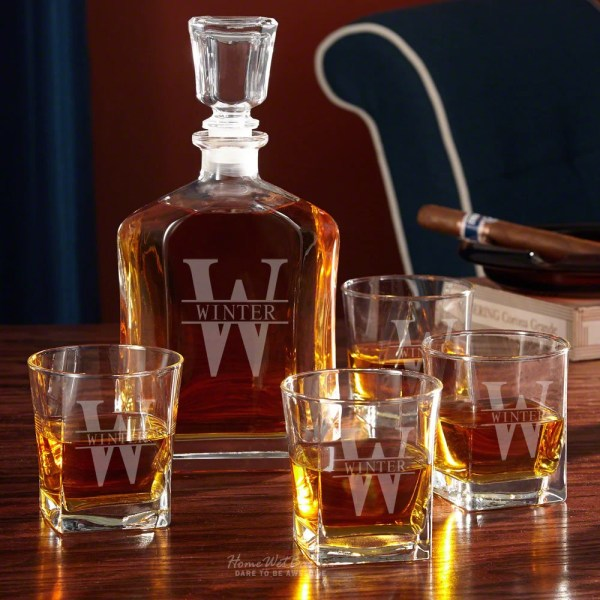 Personalized Whiskey Decanter and Glass Set