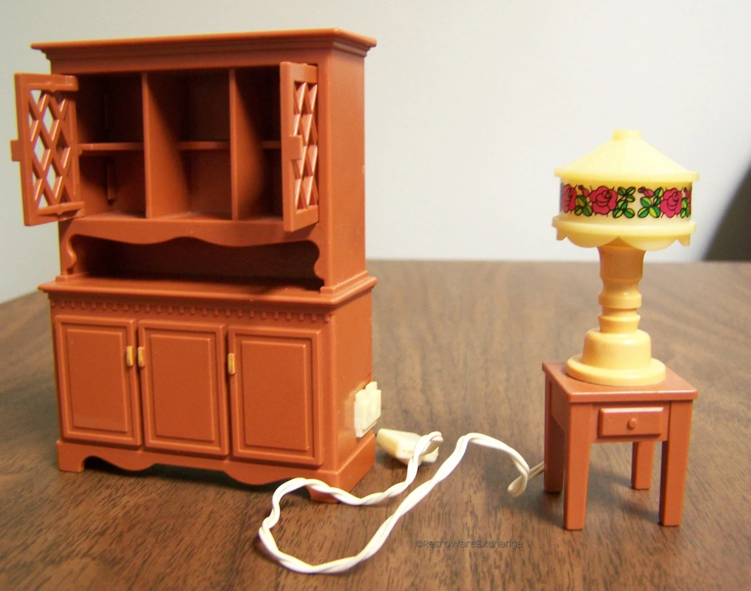 Fisher Price Table And Chairs Vintage 1980 Fisher Price Loving Family Dollhouse Furniture