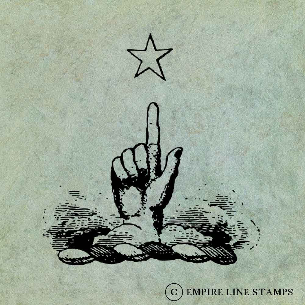 Hand Pointing to Star  - ...