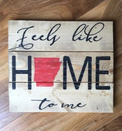 Arkansas Home Wood Sign