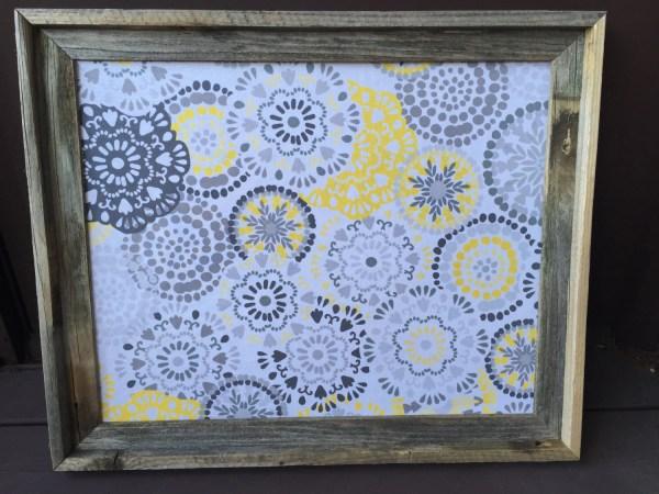 Fabric Bulletin Board Framed Corkboard Decorative Cork
