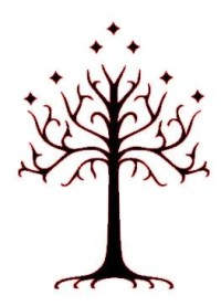 White Tree of Gondor Tolkien Car Decal Sticker