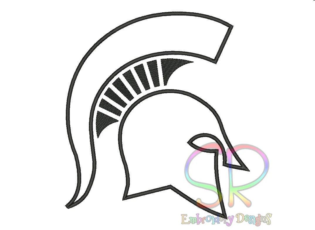 Msu Spartan Coloring Page by Michigan State Spartans