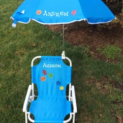 Child Beach Chair Computer Desk Personalized And Umbrella For Kids
