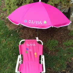 Custom Beach Chairs Chair And Half Glider Personalized Umbrella For Kids