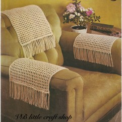 Chair Arm Protectors Wing Back Recliner Slipcover Chairback And Arms Covers Knitting Pattern Instant