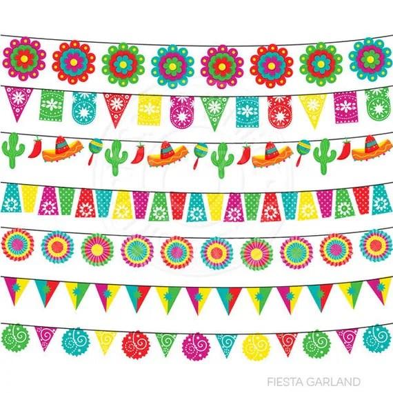 fiesta garland cute digital clipart