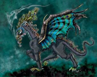 Turquoise dragon Etsy