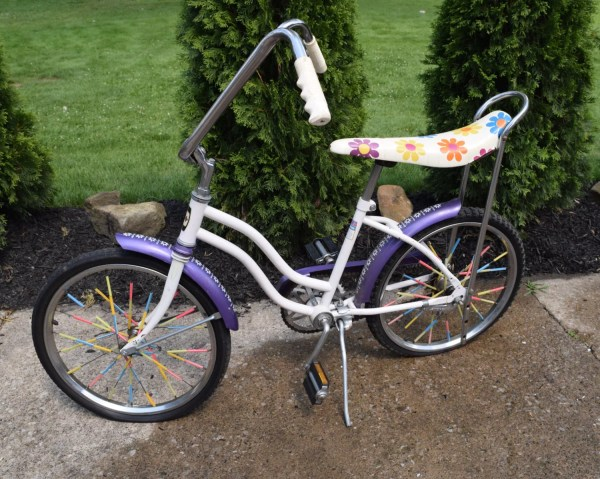 Vintage Huffy Girls Banana Seat Bike Flower