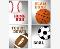 Sports Wall Art Boy Room Wall Decor Baby Boy Nursery Wall Art