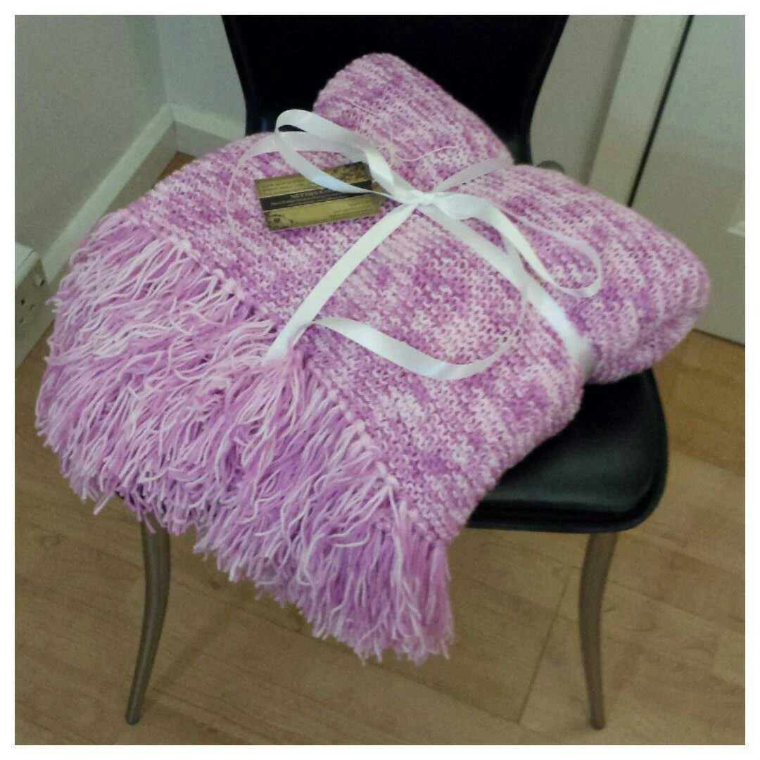 pink sofa throw sofas with beds blanket hand knitted bed