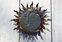 14 x 14 wrought iron sun and moon by AlainsBlacksmithShop ...