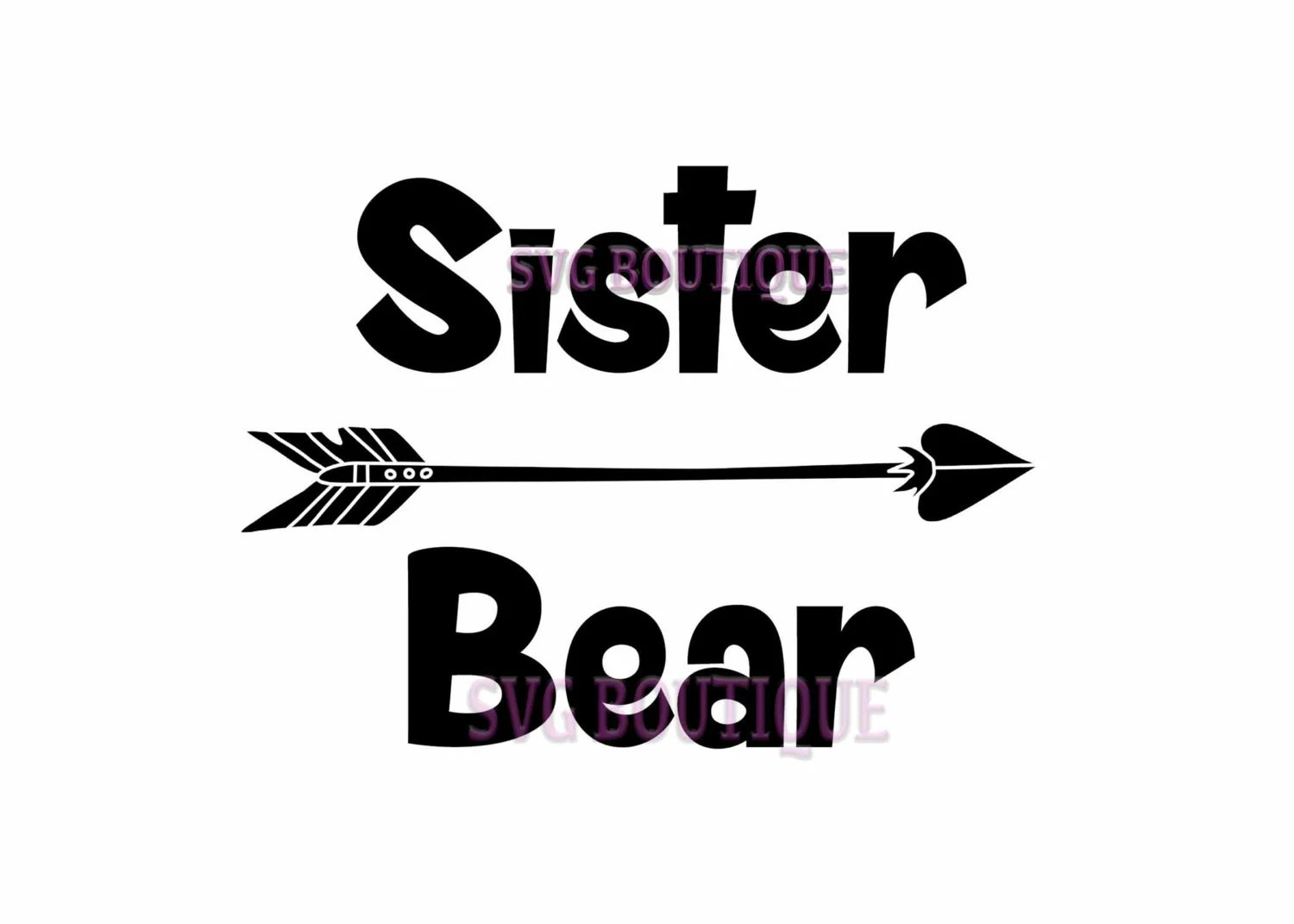 Sister Bear Cut File Sister Svg Iron Clip Art By Svgboutique