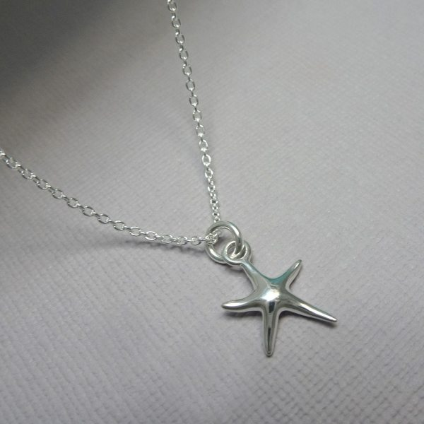 Sterling Silver Starfish Necklace Bridesmaid