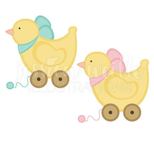 baby toy duck cute digital clipart