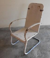 Antique Metal Lawn Chair Rocker Shabby Chic Cottage Decor