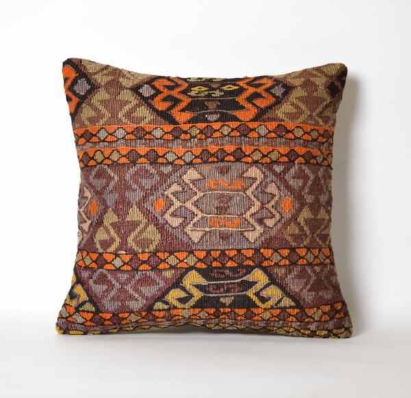Turkish Kilim Pillow Vintage