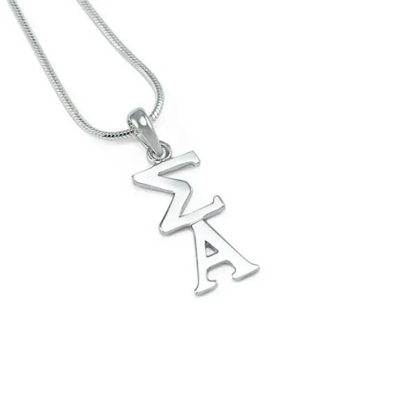 Sigma Alpha Sterling Silver Lavaliere // ΣΑ Sorority Jewelry