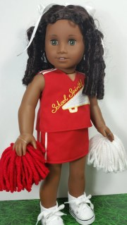 doll clothing red cheer outfit