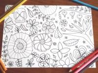 fiori giardino disegno da colorare adulti bambini zen giardino
