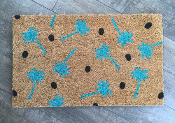 Palm Tree Doormat Custom Outdoor Mat Wedding