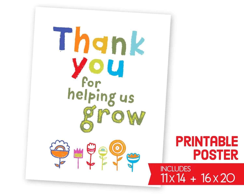 Teacher Appreciation Printables Poster School Wall Print
