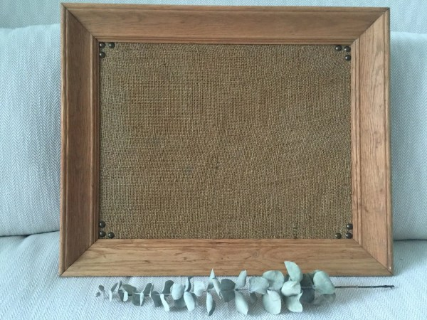 Framed Bulletin Board Cork Farmhouse Decor Rustic
