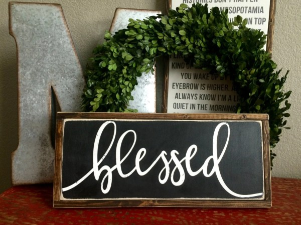 Blessed Sign Wall Signs Eversolettered