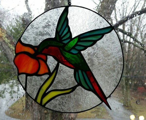 Stained Glass Hummingbird Sun Catcher Mother' Day