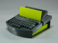 Steno Machine Post-it Note Holder