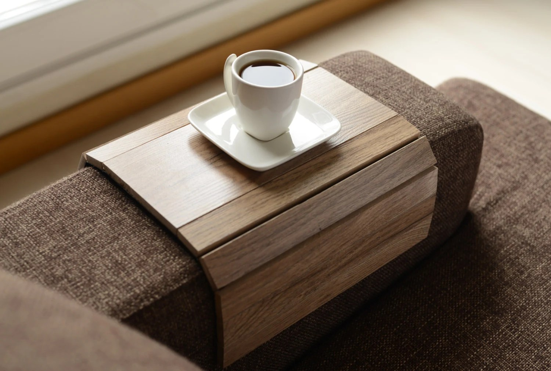 sofa arm tray wood bedroom sofas furniture table handmadesofa trayarmrest traysofa