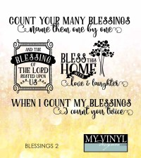 Count Your Blessings SVG Files Family Wall Art by ...