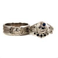 Items similar to Lightsaber Star Wars Engagement Ring Set ...