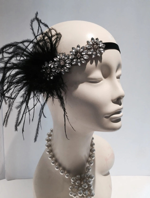 1920s Gatsby Head Wrap Flapper Headdress Art Deco Headpiece